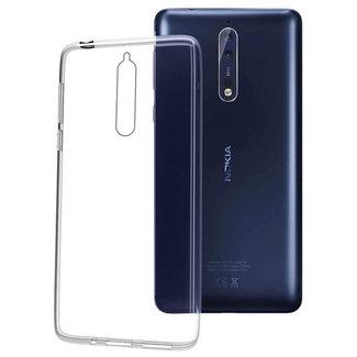 MSS Nokia Nokia 8 Transparent TPU Silicone Back cover
