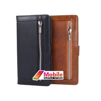 MSS Samsung Galaxy A70 Reißverschluss Brieftasche Bücherregal