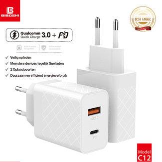 Biboshi Biboshi C12 - Thuislader | USB 3.0 18W en PD USB-C 18W