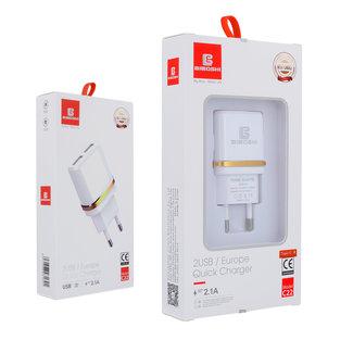 Biboshi Biboshi C22 - 2.1A | 2x USB ports | + IPhone / iPad Cable | + Type C kabel | + Micro USB kabel