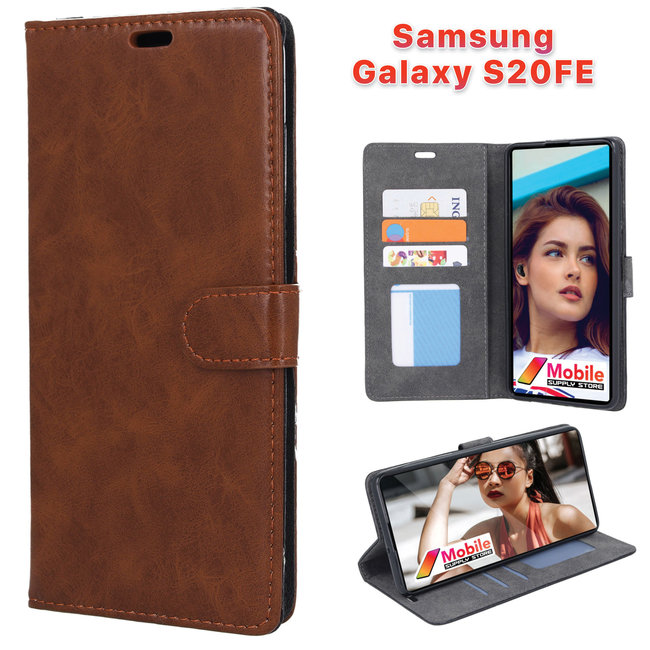 MSS Galaxy S20FE TPU / Faux Leather Book Case   for Samsung Galaxy S20FE