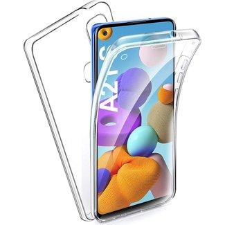 MSS Samsung Galaxy A21s TPU 360° graden TPU siliconen 2 in 1 hoesje