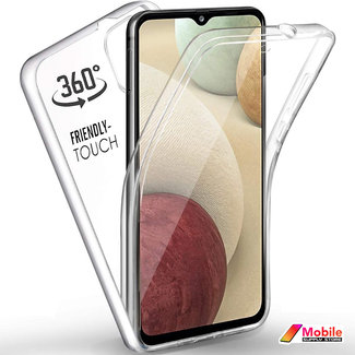 MSS Samsung Galaxy A12 5G TPU 360° graden TPU siliconen 2 in 1 hoesje