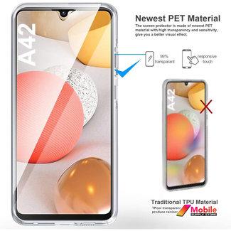MSS Samsung Galaxy A42 5G TPU 360° graden TPU siliconen 2 in 1 hoesje
