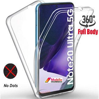 MSS Samsung Galaxy Note 20 Ultra TPU 360° graden TPU siliconen 2 in 1 hoesje