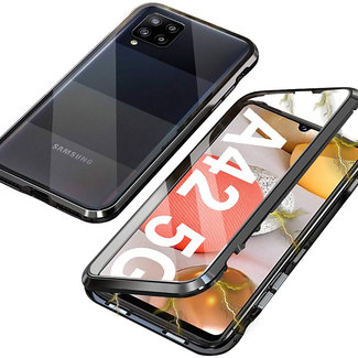 MSS Samsung Galaxy A42 5G Magnetic 360 ° cover front + back tempered glass