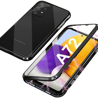 MSS Samsung Galaxy A72 Magnetic  360° hoesje voor + achter tempered glass