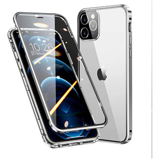 MSS Apple iPhone 12 / 12 Pro Magnetic  360° hoesje voor + achter tempered glass