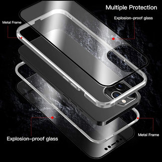 MSS Apple iPhone 12 Mini Magnetic  360° hoesje voor + achter tempered glass