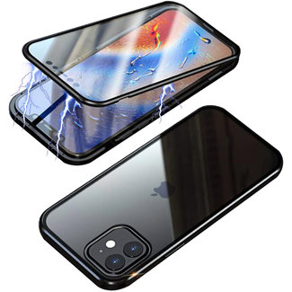 MSS Apple iPhone 12 Pro Max Magnetic  360° hoesje voor + achter tempered glass