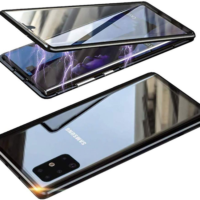 MSS Samsung Galaxy S21 Magnetic 360 ° cover front + back tempered glass