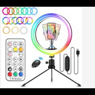 """RGB Selfie Ring light 160 LED 10.2"""""""