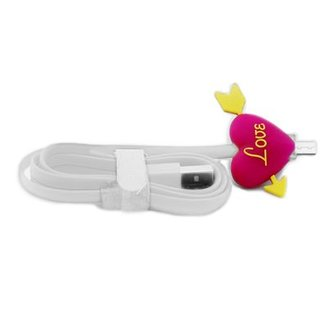 Cartoon Micro / USB Charge Cable with Led Light