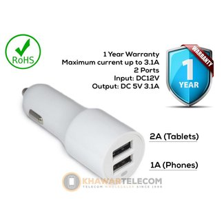 Power Output 3.1A Car USB Adpater