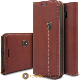 iHosen Leather Boek Hoesje Galaxy S6 Edge