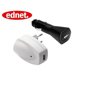 Adapter Ednet USB port Charger Set