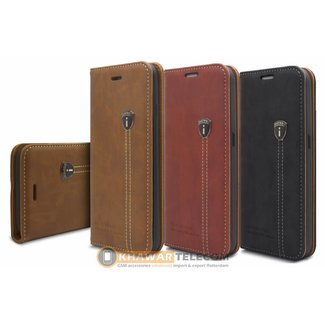 iHosen Leather Boek Hoesje  Galaxy S7 Edge
