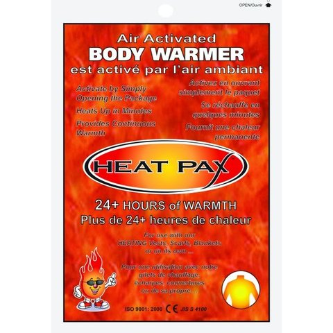 Air-Activated Body Warmers
