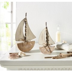 "Deko-Boot ""Sail away"", 2er Set"