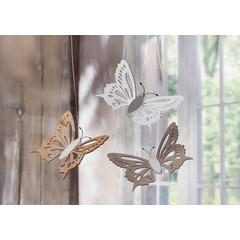 "Deko-Schmetterling ""Natur"", 3er Set"