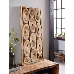 """Wanddeko """"Wood-Discs"""", 42 x 88 cm"""