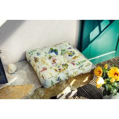 """Dickes Sitzkissen """"Wildblumen"""", 40 x 40 cm"""