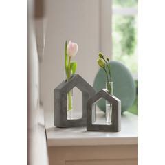 "Röhrchen-Vase ""Haus"", 2er Set"