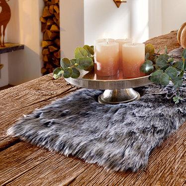 """Tischläufer """"Fur-Look"""""""