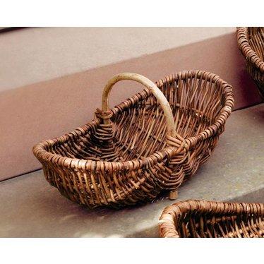 Tragekorb mit Holzbügel, klein