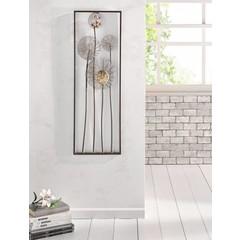 "Metall-Bild ""Flowers"", 30 x 90 cm"