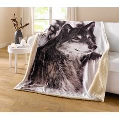 """Wohndecke """"Wolf"""", 130 x 155 cm"""