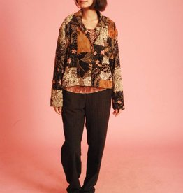 Bohemian 80s jacket with all-over print