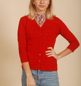 Red 80's Cardigan