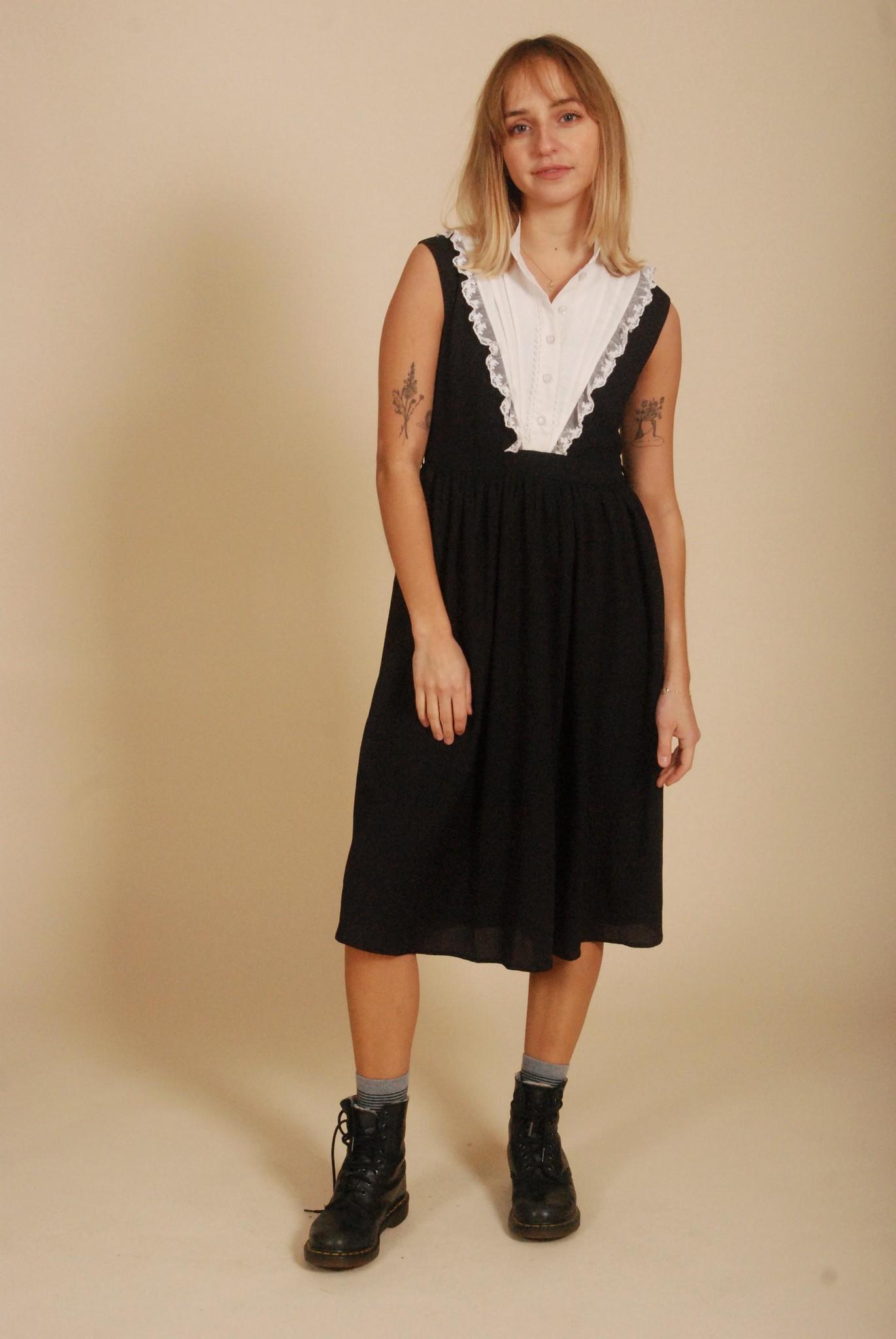 80's Button front dress