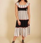 Off-shoulder 70s dress