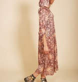 Quirky hooded dress with floral print