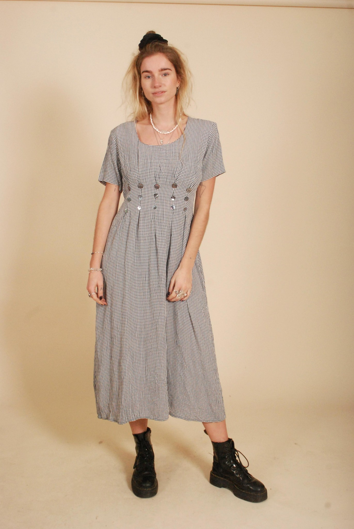 Classic 90s dress with all-over print