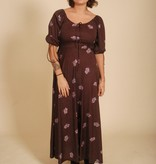 70's Brown Maxi Dress