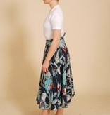 Floral Tie Waist Skirt