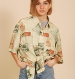 Cool 90s shirt with all-over print