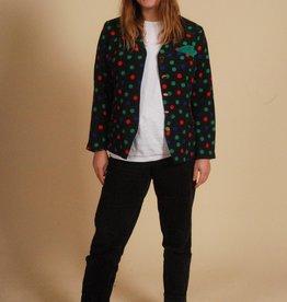 Colorful 80s jacket with polka dot print