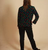 Colorful 80s jacket with polka dot print
