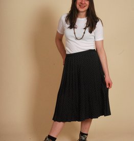 Blue 80s polka dot skirt