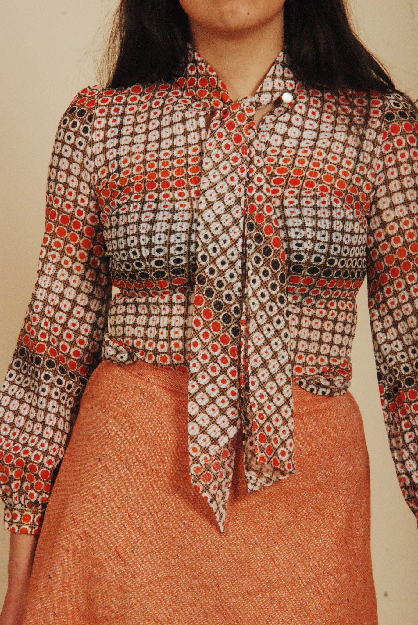 High waist 70s skirt