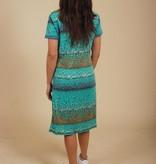 Blue 70s floral dress