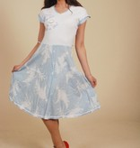 Quirky 80s dress in blue