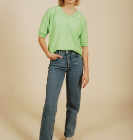 Fun green 70s stretch top