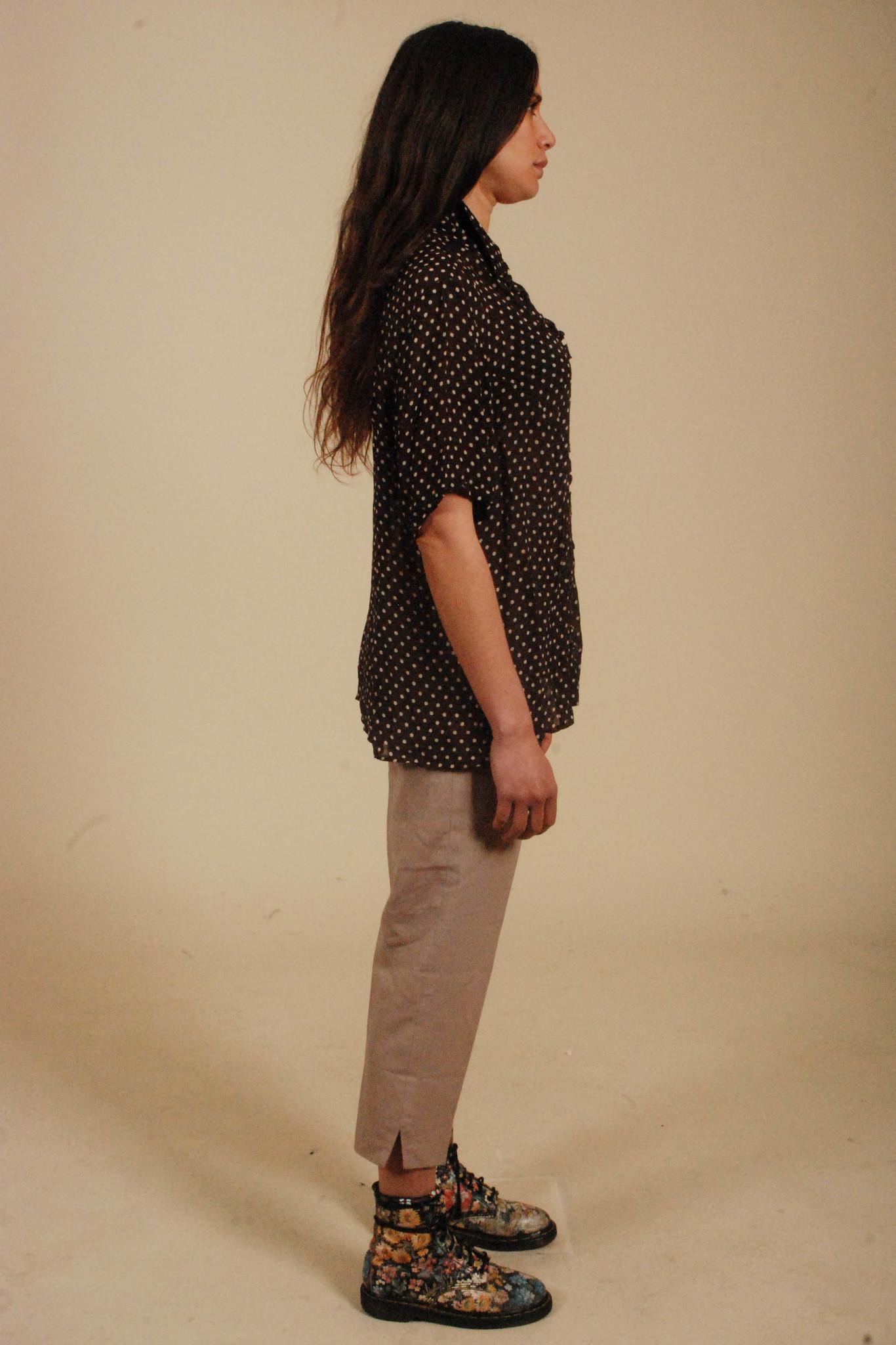 90s polka dot blouse