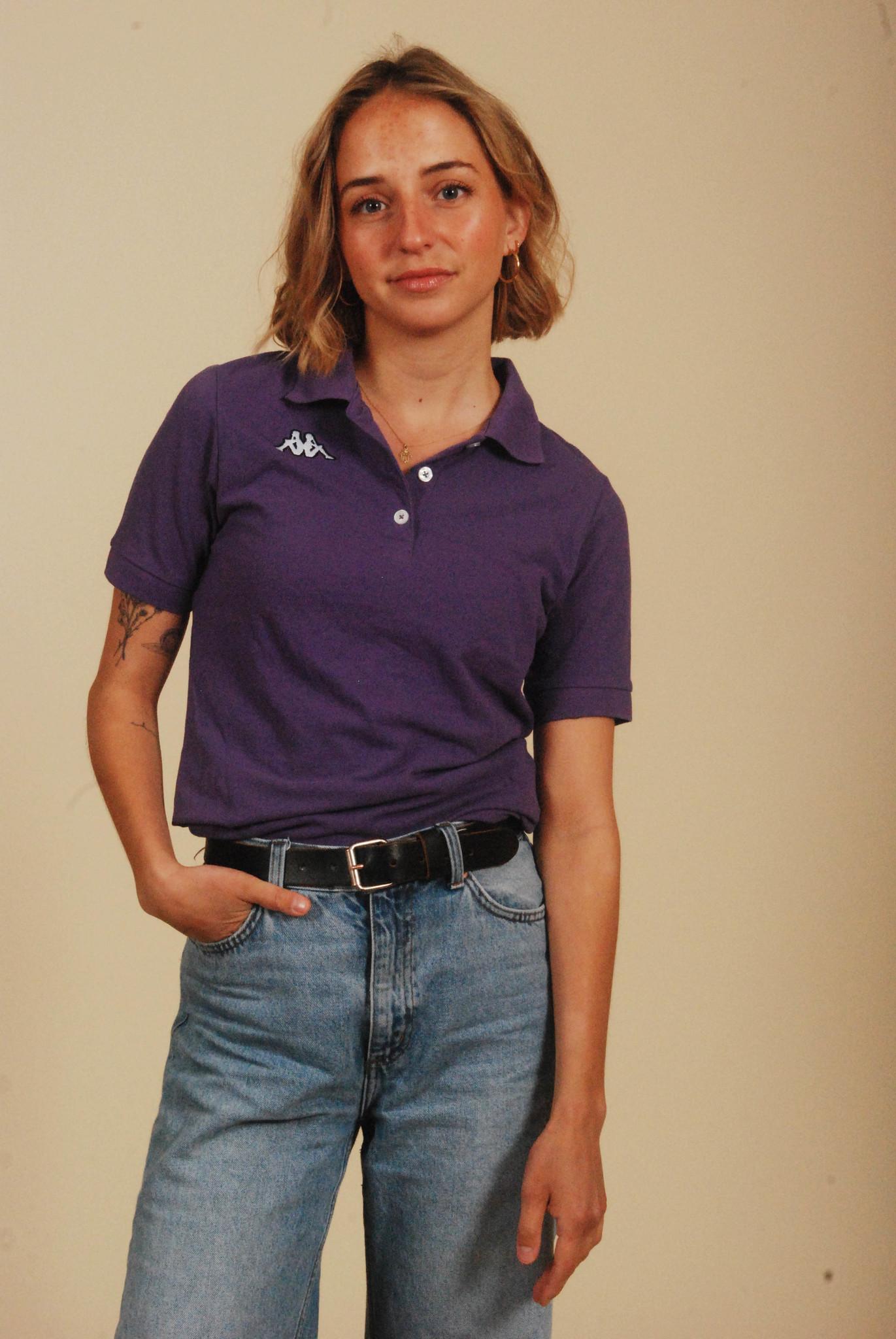 Purple 90s Kappa polo shirt