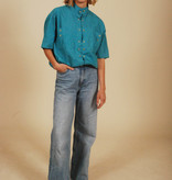 Blue 80s shirt with short sleeves